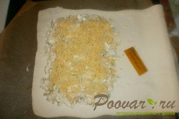 Пирог с пекинской капустой из слоёного теста Шаг 11 (картинка)