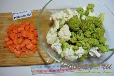 Суп-пюре из брокколи и цветной капусты Шаг 1 (картинка)