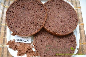 Шоколадный торт с шоколадным кремом и вишней Шаг 14 (картинка)
