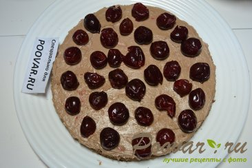 Шоколадный торт с шоколадным кремом и вишней Шаг 16 (картинка)
