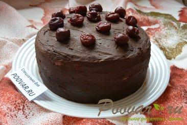 Шоколадный торт с шоколадным кремом и вишней Шаг 19 (картинка)