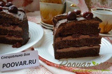 Шоколадный торт с шоколадным кремом и вишней Шаг 20 (картинка)
