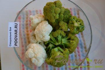 Запеканка из брокколи и цветной капусты Шаг 1 (картинка)
