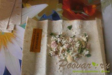 Лаваш с адыгейским сыром и ветчиной Шаг 6 (картинка)