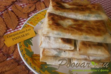 Лаваш с адыгейским сыром и ветчиной Шаг 10 (картинка)