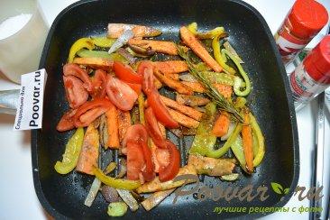 Жареный батат на сковороде с овощами Шаг 6 (картинка)
