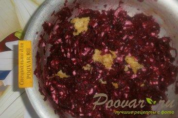 Свекольный салат с плавленым сыром Шаг 4 (картинка)