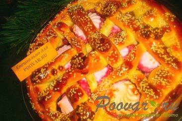 Пирог с вишней и зефиром Изображение