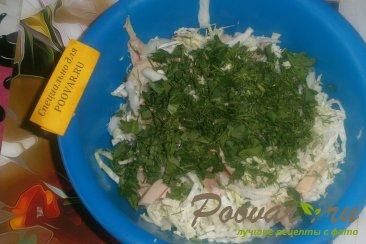 Салат из пекинской капусты и копчёной курицей Шаг 4 (картинка)