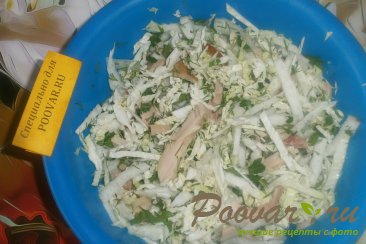 Салат из пекинской капусты и копчёной курицей Шаг 5 (картинка)