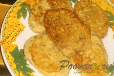 Оладьи из картофельного пюре с зеленью Шаг 7 (картинка)