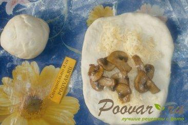 Пирог из рулетиков с грибами и сыром Шаг 10 (картинка)