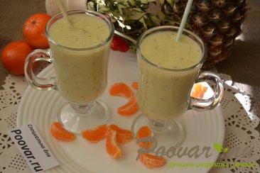Молочный коктейль с ананасом и киви Шаг 5 (картинка)