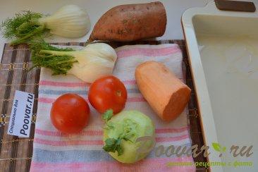 Батат кольраби фенхель запеченные в духовке Шаг 1 (картинка)
