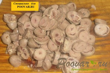 Макароны с куриными сердечками и вялеными помидорами Шаг 4 (картинка)