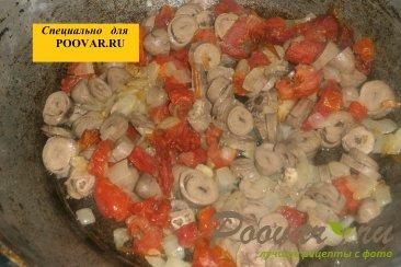 Макароны с куриными сердечками и вялеными помидорами Шаг 6 (картинка)