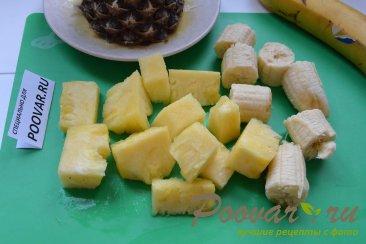 Молочный коктейль с бананом и ананасом Шаг 1 (картинка)