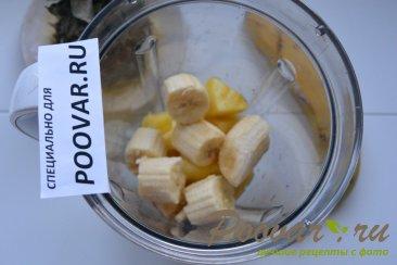 Молочный коктейль с бананом и ананасом Шаг 2 (картинка)