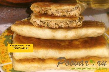 Лепёшки турецкие гёзлеме с мясом Изображение