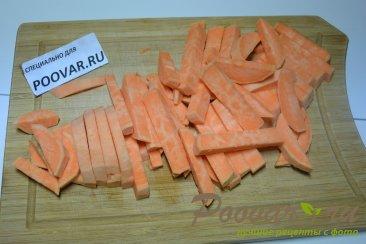 Жареный батат с грибами Шаг 1 (картинка)