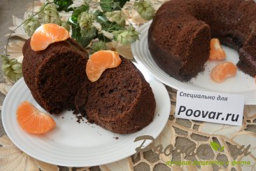 Постный шоколадный кекс Изображение