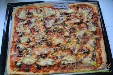 Пицца с грибами и колбасой Шаг 14 (картинка)