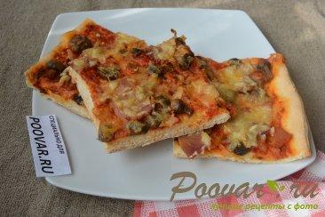 Пицца с грибами и колбасой Шаг 16 (картинка)