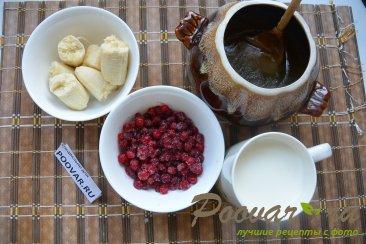 Молочный смузи с брусникой и бананом Шаг 1 (картинка)