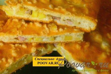 Мясной пирог с курицей и свининой Изображение