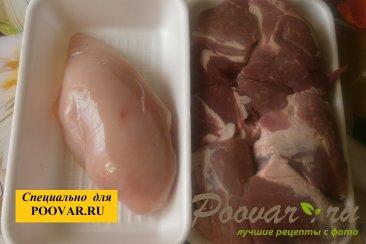 Мясной пирог с курицей и свининой Шаг 3 (картинка)
