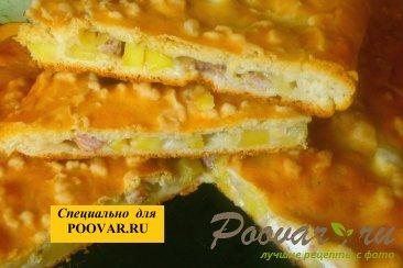 Мясной пирог с курицей и свининой Шаг 17 (картинка)
