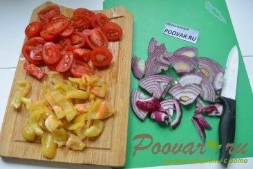 Постная пицца с грибами и помидорами Шаг 3 (картинка)