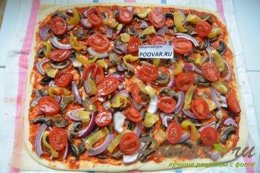 Постная пицца с грибами и помидорами Шаг 11 (картинка)