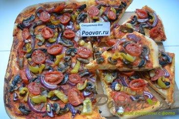 Постная пицца с грибами и помидорами Шаг 14 (картинка)