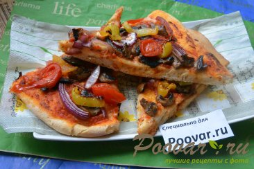 Постная пицца с грибами и помидорами Шаг 15 (картинка)
