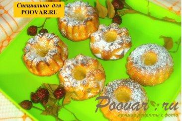 Творожные кексы с кокосом и изюмом Изображение