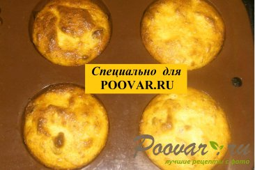Творожные кексы с кокосом и изюмом Шаг 10 (картинка)