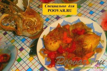 Куриные голени с тыквой и вялеными помидорами Изображение