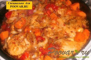 Куриные голени с тыквой и вялеными помидорами Шаг 12 (картинка)