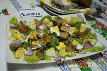 Салат из малосольной рыбы Изображение