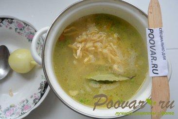 Куриный суп с лапшой и зеленым горошком Шаг 6 (картинка)