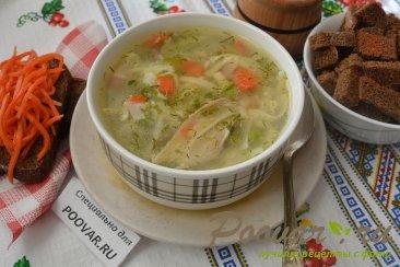 Куриный суп с лапшой и зеленым горошком Шаг 8 (картинка)