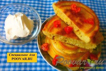 Оладьи с мясом и вялеными помидорами Изображение