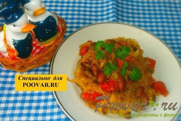 Тушёная капуста с фасолью и грибами Шаг 14 (картинка)