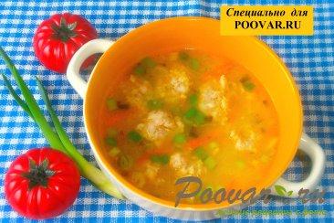 Суп с фрикадельками и пшеном Изображение