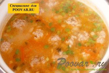 Суп с фрикадельками и пшеном Шаг 13 (картинка)