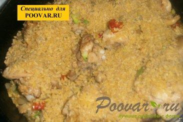 Булгур с курицей, луком и вялеными помидорами Шаг 12 (картинка)