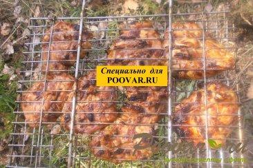 Бёдра куриные с горчицей на мангале Шаг 9 (картинка)