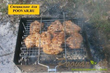 Бёдра куриные с горчицей на мангале Шаг 8 (картинка)