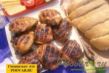 Бёдра куриные с горчицей на мангале Шаг 10 (картинка)